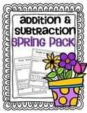Addition & Subtraction Story Problems {Spring Pack}