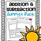 Addition &amp; Subtraction Story Problems {Summer Pack}