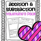 Addition & Subtraction Story Problems {Valentines Pack}