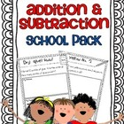 Addition & Subtraction Story Problems {school pack}