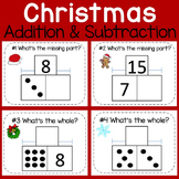 Addition & Subtraction Task Cards: Part-Part-Whole {Christ