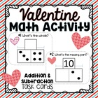 Addition & Subtraction Task Cards: Part-Part-Whole {Heart