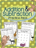 Addition & Subtraction Worksheets, With and Without Regrouping