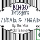 Addition & Subtraction of Integers Bingo PPT with Blank Ca