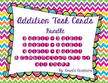 Addition Task Cards- BUNDLE