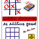 Addition Tic-Tac-Toe Game! (Great Center or Workstation!)