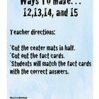 Addition:  Ways to Make...12,13,14,and 15