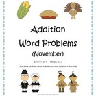 Addition Word Problems (November) Common Core