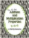 Addition and Multiplication Properties Fold-Up