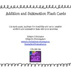 Addition and Subrtaction Flash Cards