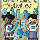 Addition and Subtraction 2-Digit Activities {with and with