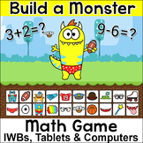 Addition and Subtraction Build a Monster Game – For Whiteb
