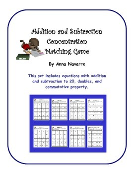 Addition and Subtraction Concentration