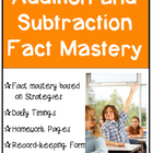 Addition and Subtraction Fact Mastery Worksheets