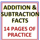 Addition and Subtraction Facts 14 Pages of Practice