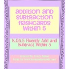 Addition and Subtraction Flashcards Within 5 (K.OA.5)
