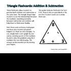 Addition and Subtraction Flashcards in Fun Triangle Shape!
