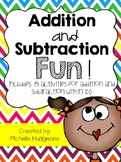 Addition and Subtraction Fun {15 activities for addition a