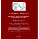 Addition and Subtraction (HI Practice Sheets) MINI VERSION