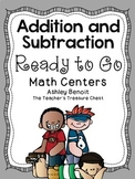 Addition and Subtraction Math Centers