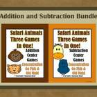Addition and Subtraction Safari Animals Concentration, Go