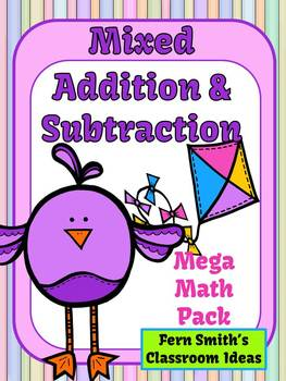 Addition and Subtraction Spring Mega Math Pack - Printable