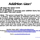 Addition and Subtraction War Games
