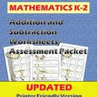 Addition and Subtraction Worksheets and Assessments