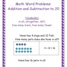 Addition and Subtraction to 20 Word Problems