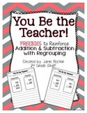 Addition and Subtraction with Regrouping {FREEBIE}