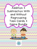 Addition and Subtractions Task Cards & Games Bundle