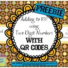 Addition to 100 - Two Digit Numbers with QR CODES - {FREEBIE}