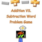 Addition vs Subtraction Word Problem Game
