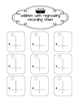 Addition with Regrouping Station