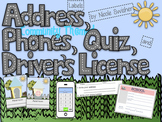 Address Labels/Phones/Quiz/Driver's License- Community Themed!!