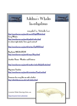Adelina's Whales Links Reading Street Grade 4