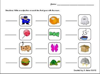 Adjective Activity Printable
