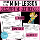 Adjective / Descriptive Writing Worksheet