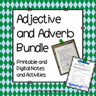 Adjective and Adverb Activity and Worksheets Bundle (Gramm