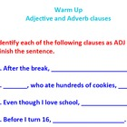 Adjective and Adverb clause ActivInspire Warm Up