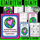 Adjective or Adverb Exciting Earth Day Center Game for Com