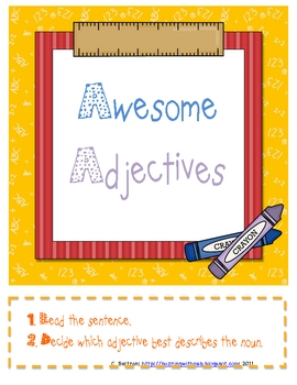 Adjectives Activities