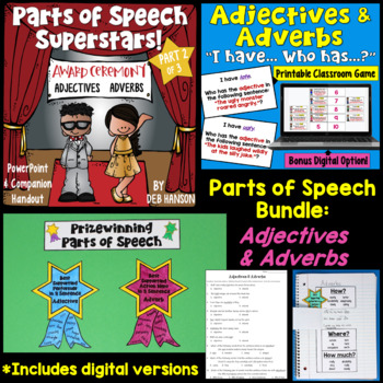http://www.teacherspayteachers.com/Product/Adjectives-Adverbs-BUNDLEPowerPoint-Craftivity-Assessment-Exit-Slip-More-1177118