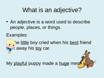 Adjectives: Describing Shapes and Colors