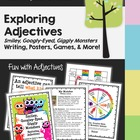 Adjectives - Monster Theme - Adjective Posters, Activities