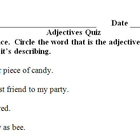 Adjectives Quiz