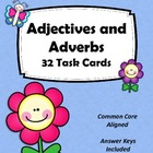 Adjectives and Adverbs Task Cards - Grammar Practice Set