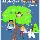 Adorable Characters Alphabet Coloring Pages [digital]