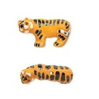Adorably Ferocious Mascot Jewelry: Tiger Earrings
