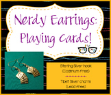 Adorably Math-y Playing Card Probability Earring (shipping
